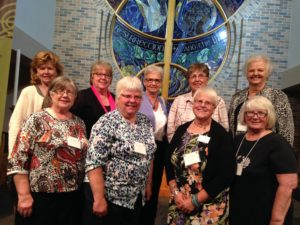 Back Row (Left to Right): Merrily Burmeister, Diane Tiegland, Carol Gealow, RoxAnn Goulet, Sharon Mortared. Front Row (Left to Right): Marilyn Grandstrand, Carolyn Nelson, Sue Ellwanger and Vicki Heydt. Not pictured Margaret Kragerud.